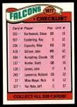 1977 Topps #201   Falcons Team Checklist Front Thumbnail