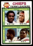 1979 Topps #207   Chiefs Leaders Checklist Front Thumbnail