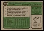 1974 Topps #351  Dwight Evans  Back Thumbnail