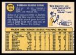 1970 Topps #316  Skip Guinn  Back Thumbnail