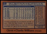 1978 Topps #561  Charlie Williams  Back Thumbnail