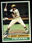 1976 Topps #220  Manny Sanguillen  Front Thumbnail