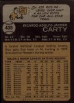 1973 Topps #435  Rico Carty  Back Thumbnail