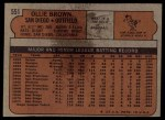 1972 Topps #551  Ollie Brown  Back Thumbnail