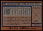 1978 Topps #667  Jeff Byrd  Back Thumbnail