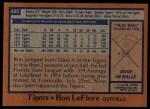 1978 Topps #480  Ron LeFlore  Back Thumbnail