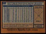 1978 Topps #35  Sparky Lyle  Back Thumbnail