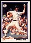 1978 Topps #35  Sparky Lyle  Front Thumbnail