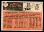 1966 Topps #105  Milt Pappas  Back Thumbnail