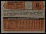 1972 Topps #435  Reggie Jackson  Back Thumbnail