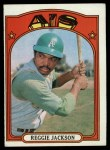 1972 Topps #435  Reggie Jackson  Front Thumbnail