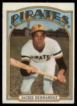 1972 Topps #502  Jackie Hernandez  Front Thumbnail