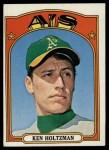 1972 Topps #670  Ken Holtzman  Front Thumbnail