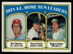 1972 Topps #90   -  Norm Cash / Reggie Jackson / Bill Melton AL HR Leaders   Front Thumbnail