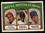 1972 Topps #85   -  Glenn Beckert / Ralph Garr / Joe Torre NL Batting Leaders   Front Thumbnail