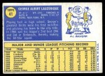 1970 Topps #41  George Lauzerique  Back Thumbnail