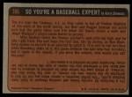 1972 Topps #306   -  Ken Boswell In Action Back Thumbnail