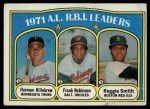 1972 Topps #88   -  Harmon Killebrew / Frank Robinson / Reggie Smith AL RBI Leaders   Front Thumbnail