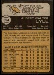 1973 Topps #394  Sparky Lyle  Back Thumbnail
