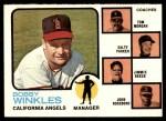 1973 Topps #421 ORG  -  Bobby Winkles / Tom Morgan / Salty Parker / Jimmie Reese / John Roseboro Angels Leaders Front Thumbnail