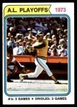 1974 Topps #470   -  Reggie Jackson / Rick Dempsey 1973 AL Playoffs Front Thumbnail