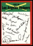 1974 Topps Red Checklist   Dodgers Red Team Checklist Front Thumbnail