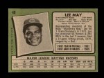 1971 Topps #40  Lee May  Back Thumbnail