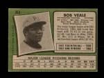 1971 Topps #368  Bob Veale  Back Thumbnail