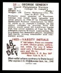 1948 Bowman REPRINT #25  George Senesky  Back Thumbnail