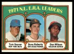 1972 Topps #91   -  Dave Roberts / Tom Seaver / Don Wilson NL ERA Leaders   Front Thumbnail