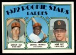 1972 Topps #457   -  Derrel Thomas / Mike Ivie / Darcy Fast Padres Rookies   Front Thumbnail