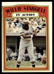 1972 Topps #448   -  Willie Stargell In Action Front Thumbnail