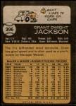 1973 Topps #396  Grant Jackson  Back Thumbnail
