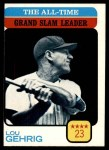 1973 Topps #472   -  Lou Gehrig All-Time Grand Slam Leader Front Thumbnail