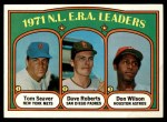 1972 Topps #91   -  Tom Seaver / Dave Roberts / Don Wilson NL ERA Leaders   Front Thumbnail