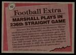1977 Topps #452   -  Jim Marshall Record Breaker Back Thumbnail