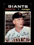 1971 Topps #517  Charlie Fox  Front Thumbnail