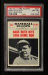 1961 Nu-Card Scoops #447   -   Babe Ruth Babe Ruth Hits 60th Home Run Front Thumbnail
