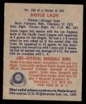 1949 Bowman #168  Doyle Lade  Back Thumbnail