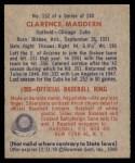 1949 Bowman #152  Clarence Maddern  Back Thumbnail