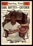 1961 Topps #582   -  Earl Battey All-Star Front Thumbnail