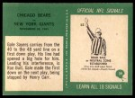 1966 Philadelphia #39   -  Gale Sayers / Ron Bull Chicago Bears Back Thumbnail