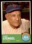 1963 Topps #233  Casey Stengel  Front Thumbnail