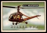 1952 Topps Wings #160   Hiller 360 Front Thumbnail