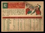 1959 Topps #42  Murray Wall  Back Thumbnail