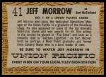 1958 Topps TV Westerns #41  Jeff Morrow   Back Thumbnail