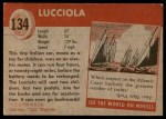 1954 Topps World on Wheels #134   Lucciola Back Thumbnail