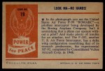 1954 Bowman Power for Peace #19   Look Ma - No Hands! Back Thumbnail