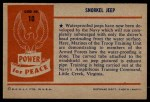 1954 Bowman Power for Peace #10   Snorkel Jeep Back Thumbnail