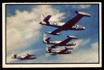 1954 Bowman Power for Peace #31   Four F-84 Thunderjets Over Japan Front Thumbnail